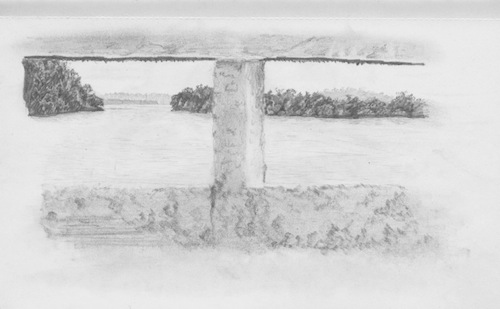 Travel drawing Altamira Brazil, in the Amazon