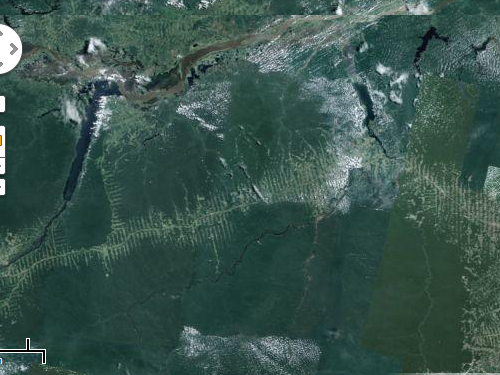 Amazon deforestation from a satellite