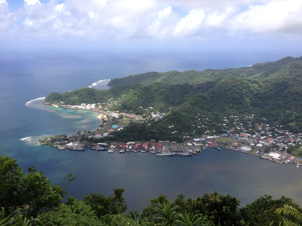 A view out over Pago Pago, American Samoa.