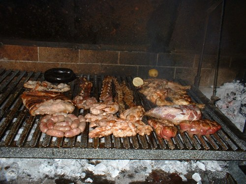 An Argentinian barbeque, otherwise known as Argentinian Asado. Great BBQ.