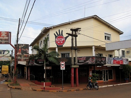 The Stop hostel, where we stayed in Puerto Iguazu, Argentina.
