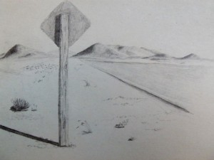 Argentina ruta 40 travel sketch