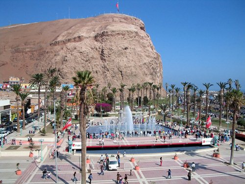 The big rock outcrop in Arica, Chile.