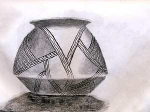 Sketch of Aztec Pottery