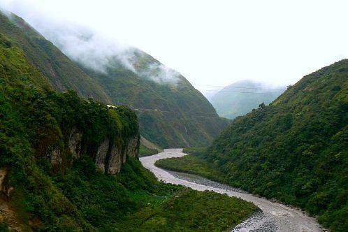 The road to Baños Ecuador.