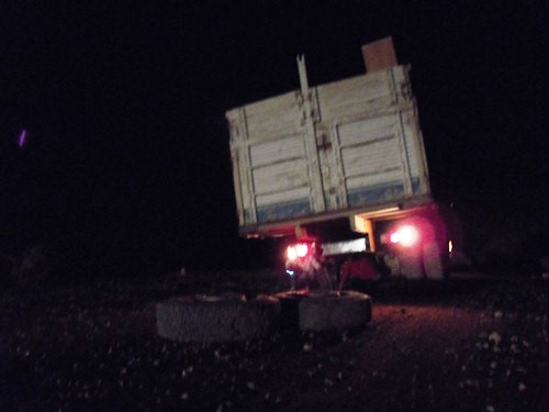 Our Bolivia road accident.