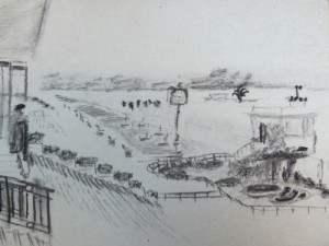 Buenos Aires hippodrome travel sketch
