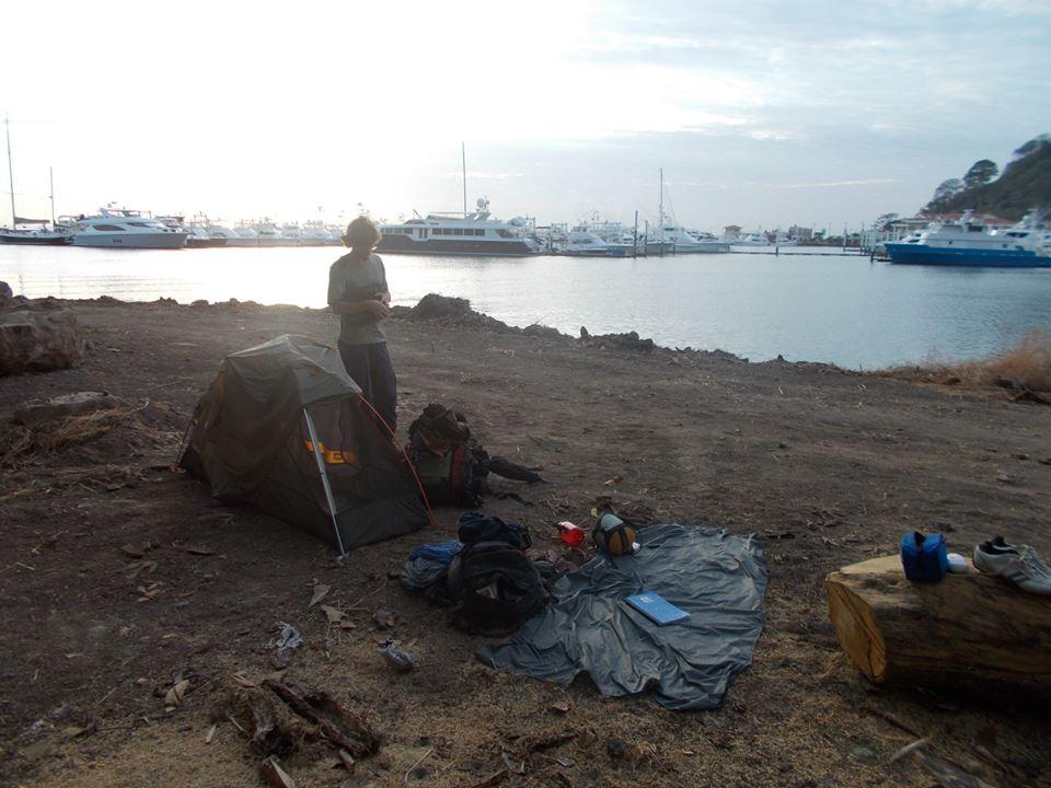 Camping in Panama City.