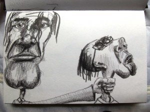 Caricatures Strangling