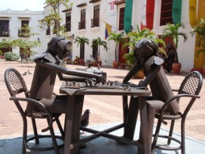 Some art in the streets of Cartagena.