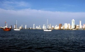 The bay in Cartagena.