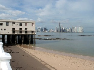A view of Panama City's skyline from Casco Viejo.