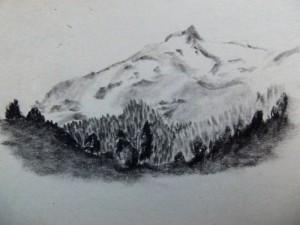 Carretera Austral, Chile, Patagonia travel drawings