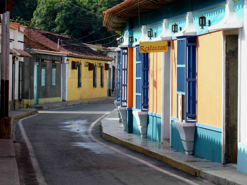 Beautifully colorful houses in Choroni, Venezuela.