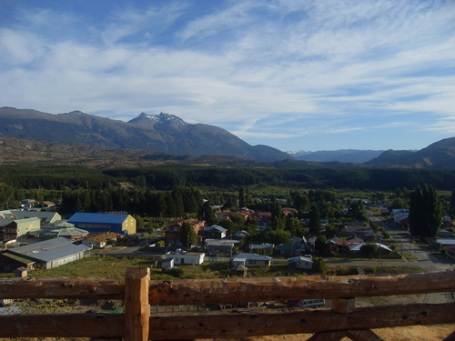 A view of Cochrane, Chile Patagonia.