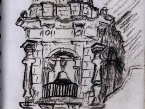 Sketch of Mexican Cathedral