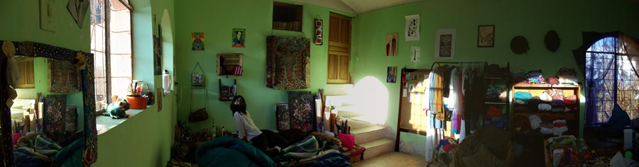 Naira's house in Copcacabana, Bolivia.