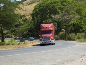 A truck somewhere on the roads of Costa Rica.