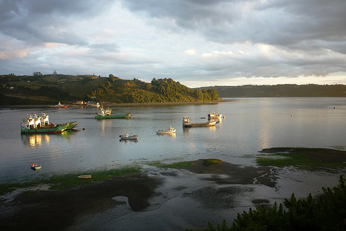 Beautiful scenes in Dalcahue, Chiloe, Chile.