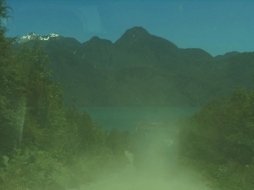 A dirt road on the Patagonian Carretera Austral.