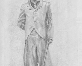 Drawing of Charlie Chaplin