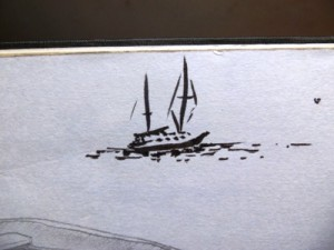 Drawing of a Sailbaot