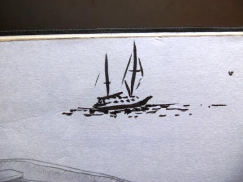 Drawing of a Sailbaot