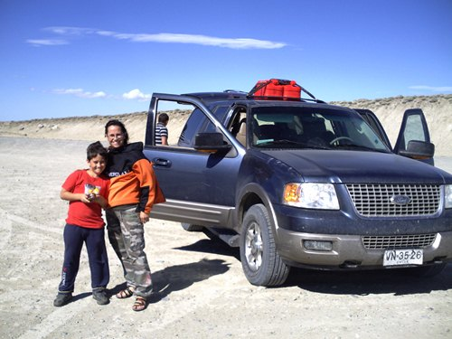 The Chilean family driving in Argentina's Patagonia.