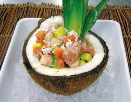 Ecuador's version of tasty ceviche.