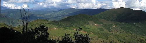 The Andes mountain border between Ecuador and Peru.