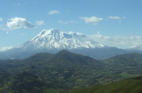 A volcano of Ecuador.