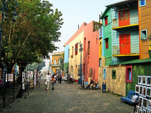 El Caminito neighborhood in Buenos Aires, the birthplace of tango.