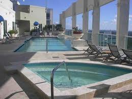Sierra's rooftop pool in Fort Lauderdale.