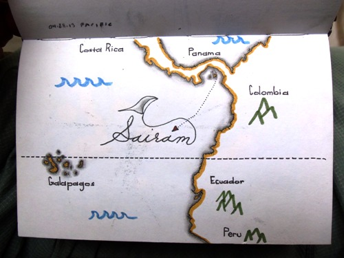 Map of getting to the Galapagos Islands