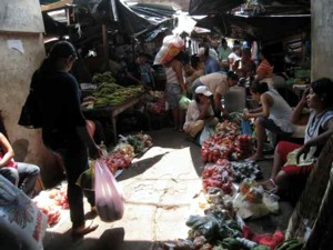 The marketplace in Granada.