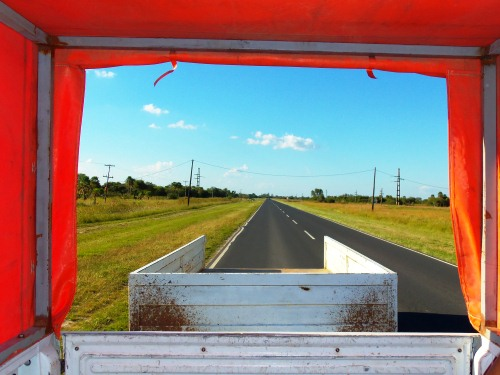 Colorful hitchhiking in Argentina.
