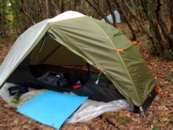 The tent I use for hitchhiking around Central America.