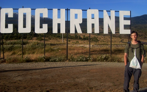 Finally arriving to Cochrane after hitchhiking the Carretera Austral in Chile.