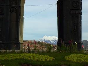 Illimani, La Paz Bolivia's sacred mountain.