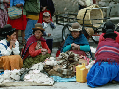 Indigenous Peruvian women in Puno.