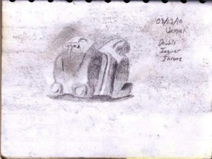 Sketch of a Jaguar Throne in Uxmal