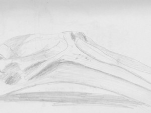 Santarem, Brazil cultural center drawing of a whale's jaw.
