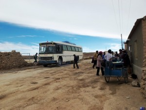 This is Johnny Tito's bus to Uyuni, which drove across the salt flats.