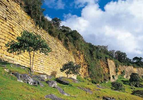 The megalithic Kuelap Fortress, near Chachapoyas in Peru.