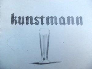 Kunstmann beer in southern Chile sketching
