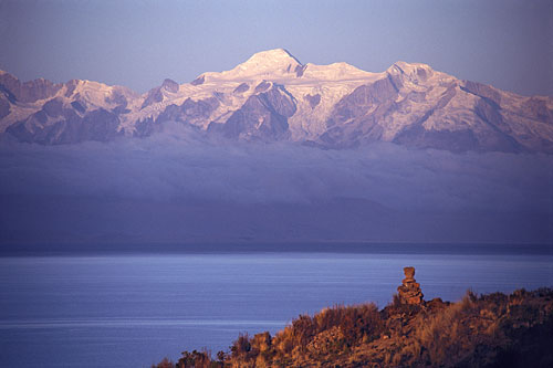A beautiful view over Lake Titicaca.