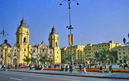 The cathedral of Lima, Peru.