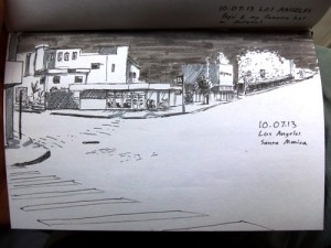 Los Angeles urban sketch