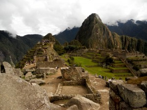 A shot of Machu Picchu. We slept in the sacred rock.