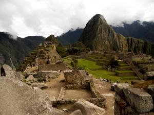 A shot of Machu Picchu. We slept in the sacred rock.